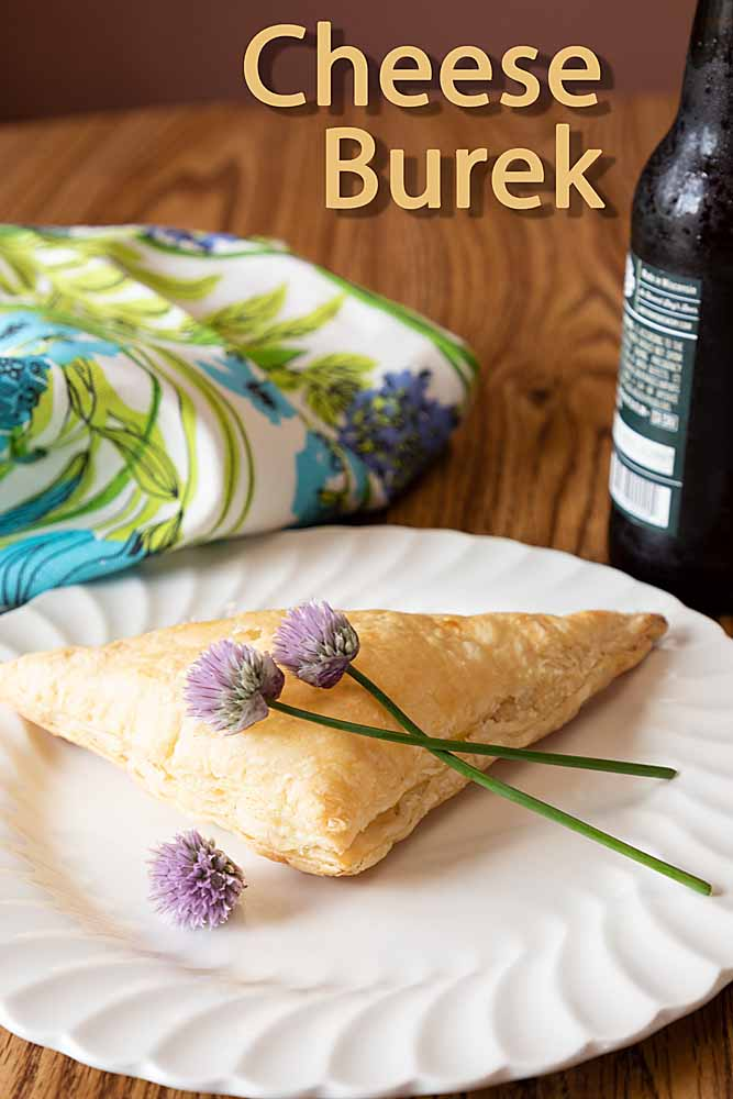 Like a cheese-filled turnover or spinach-free spanakopita, a cheese burek is a tasty dinner or snack and easy to make using frozen puff pastry.