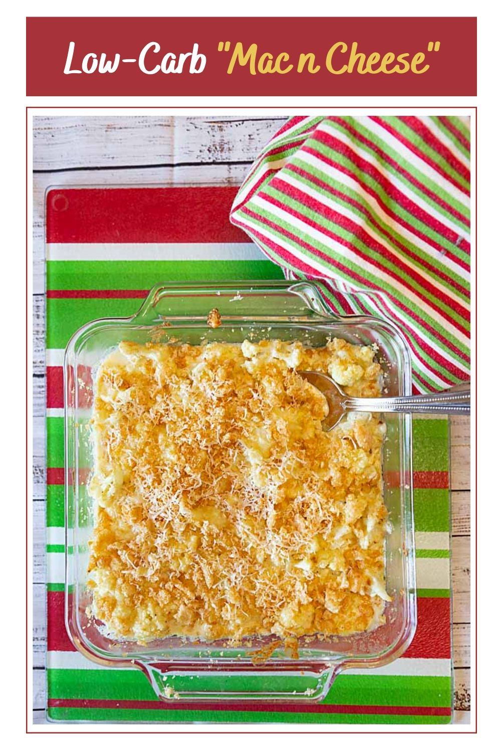 Rich and cheesy, Low-Carb Cauliflower Mac n Cheese, means it's easy to have delicious comfort food even if you are doing keto or gluten-free.