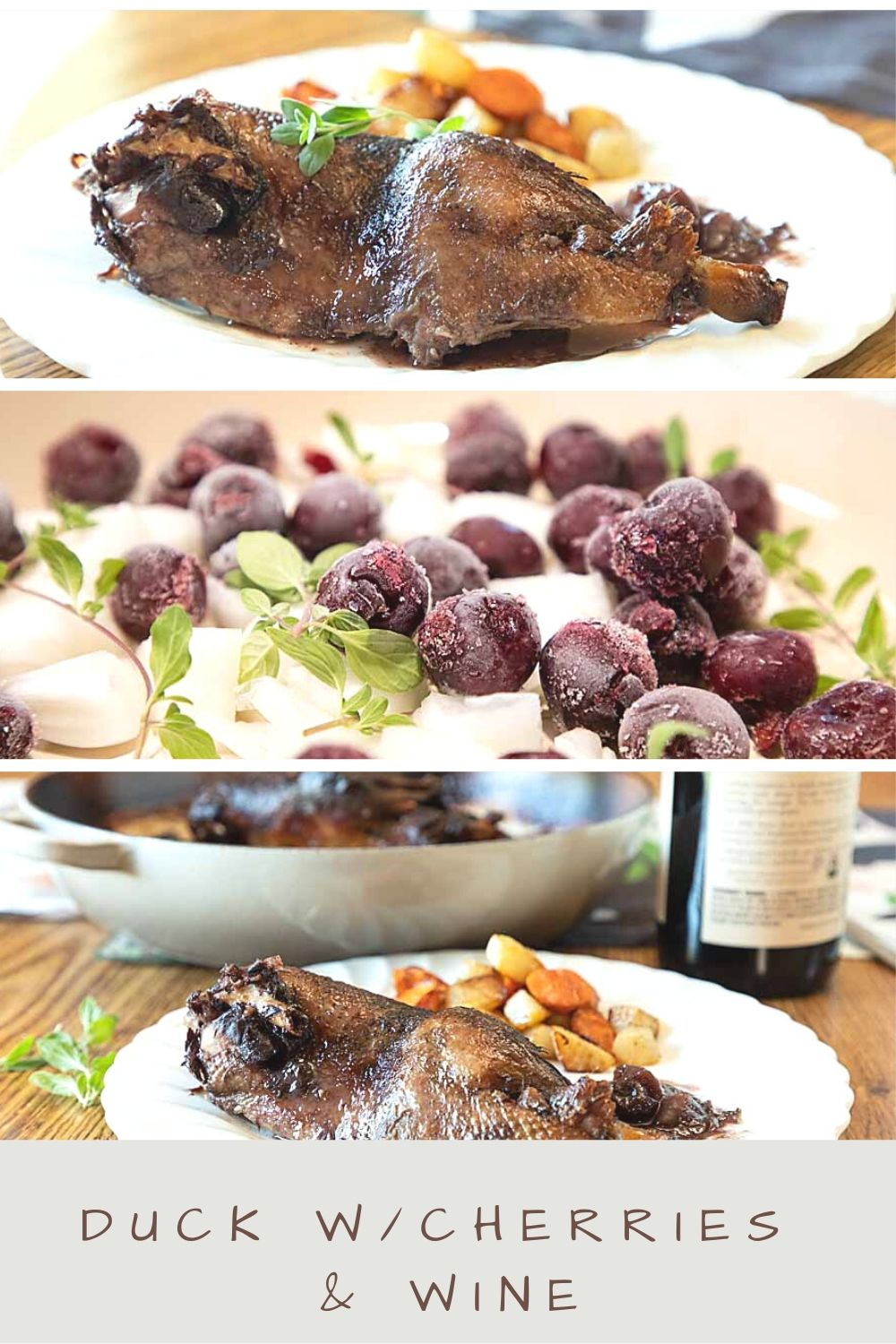 Rich and flavorful, with a cherry wine sauce, Duck with Wine & Cherries is easy to make and good enough for a special occasion.