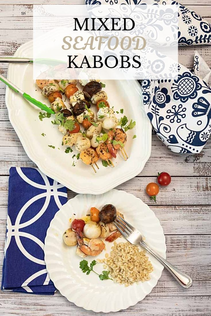 With shrimp, scallops and halibut (or other firm fish), these mixed seafood kabobs are like decadence on a skewer. No pre-marinade needed.