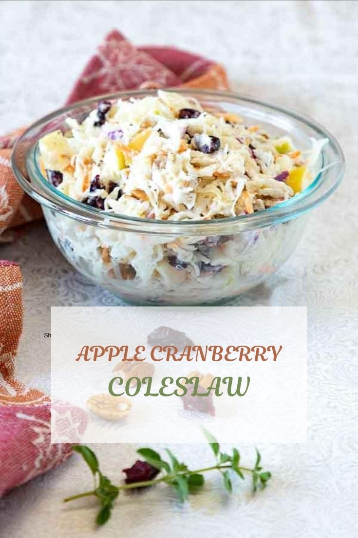 With a sweet tart creaminess, this Apple Cranberry Coleslaw is a delicious side dish that will take you happily into fall.