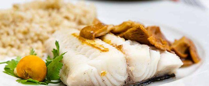 Sablefish with Chanterelles