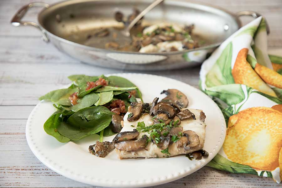 Whitefish with Mushrooms and Vermouth delivers sophisticated flavor--but is easy enough for every day dinner.