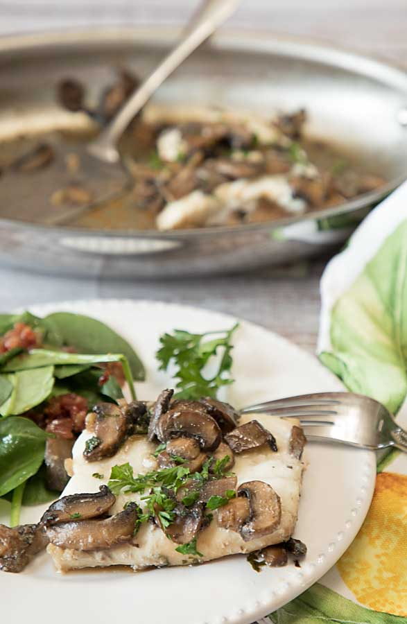 Whitefish with Mushrooms and Vermouth delivers sophisticated flavor--but is easy enough for an every day dinner.