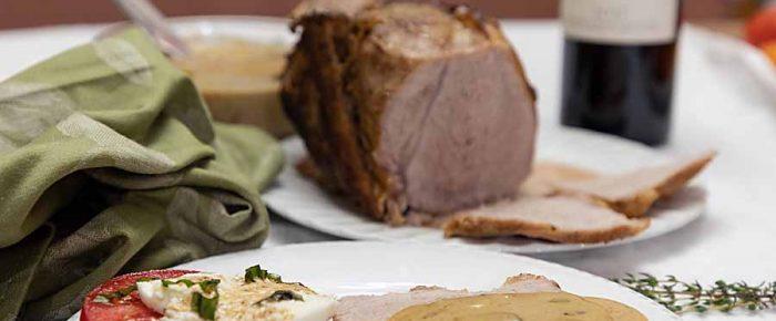 Pork Loin with Mushroom Sauce