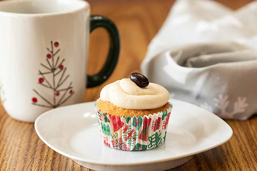 Sweet and creamy with a slight kick, White Chocolate Baileys Cupcakes bring a new twist to a fun dessert or snack. Bailey's optional.
