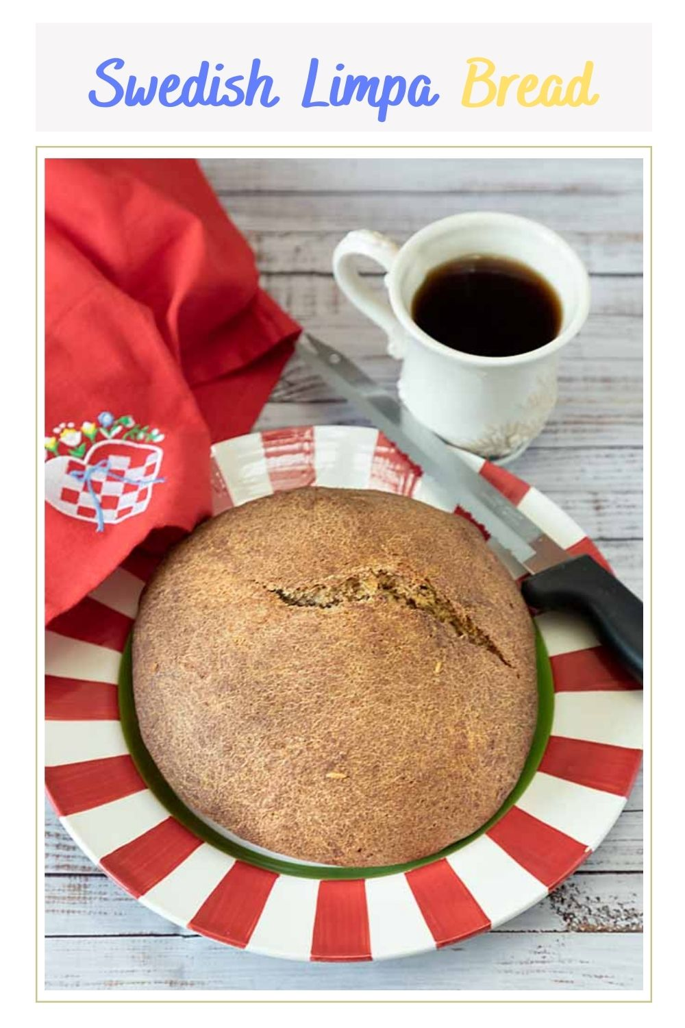 Dark, dense and flavorful, Swedish Limpa Bread is the perfect addition to the winter holiday table—or any time!