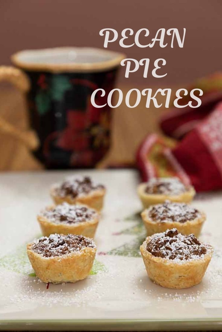 With a flakey crust and sweet nutty pecan filling Pecan Pie Cookies are like tiny pies, but bite-sized and easy to make!
