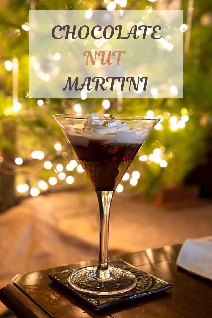 Rich and festive, this Chocolate Nut Martini blends three liqueurs with cream for a special holiday drink.