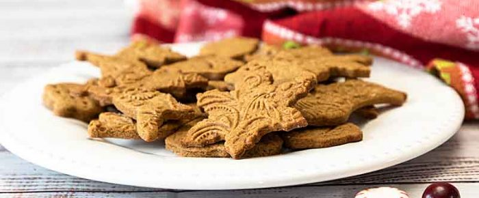 Holiday Embossed Gingerbread Cookies