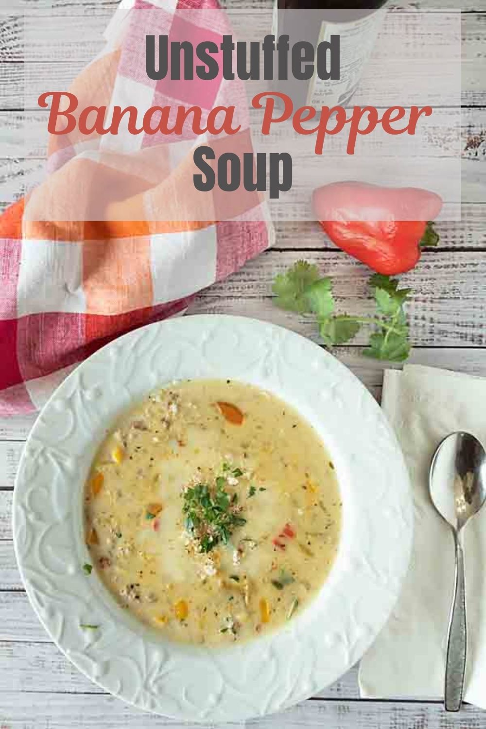 Creamy and cheesy with a hint of heat, unstuffed banana pepper soup makes a perfect cold weather lunch or dinner. Just add bread.