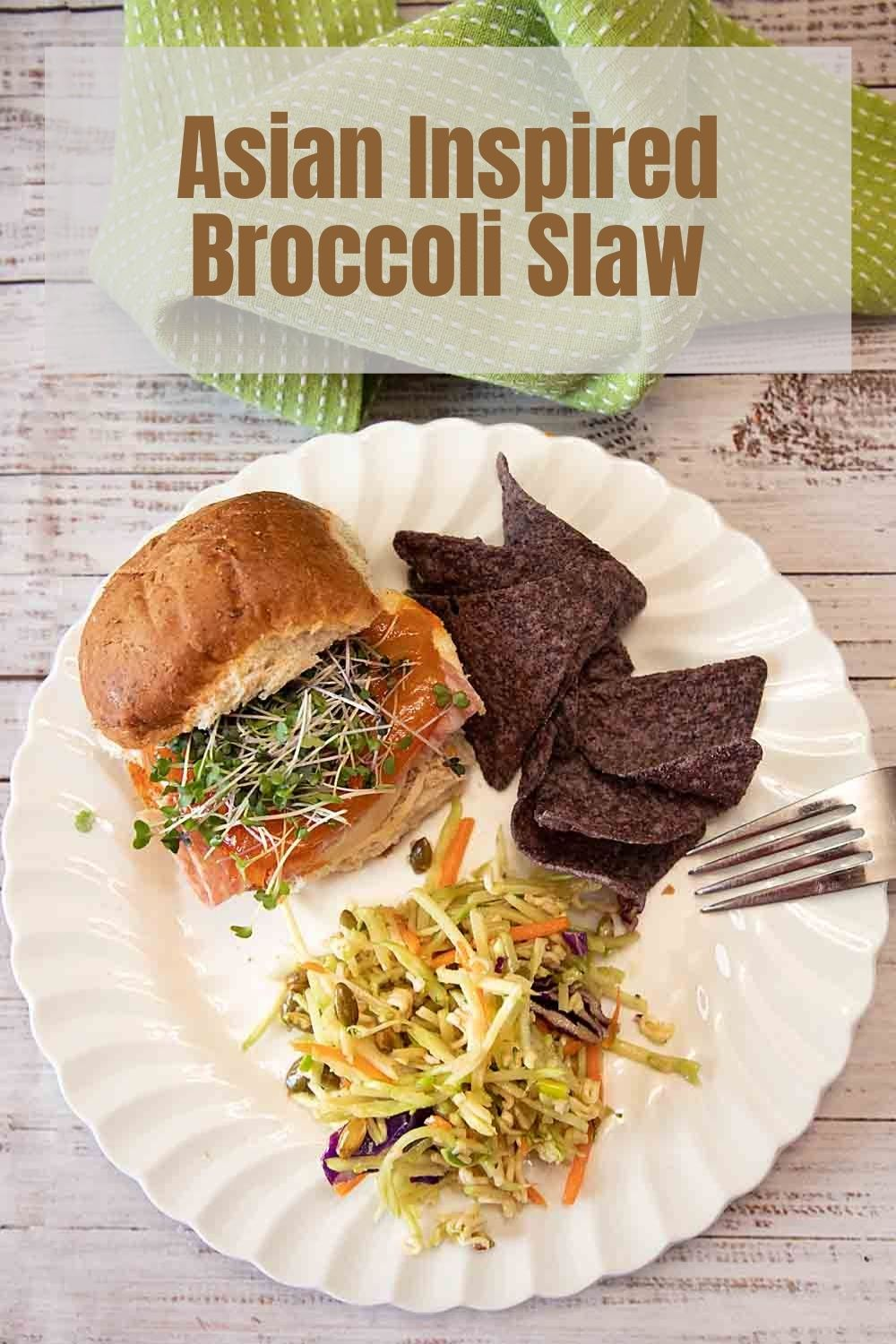 A crunchy salad that's a versatile side dish, Asian-Inspired Broccoli Slaw is highlighted by flavors like toasted sesame oil and teriyaki.