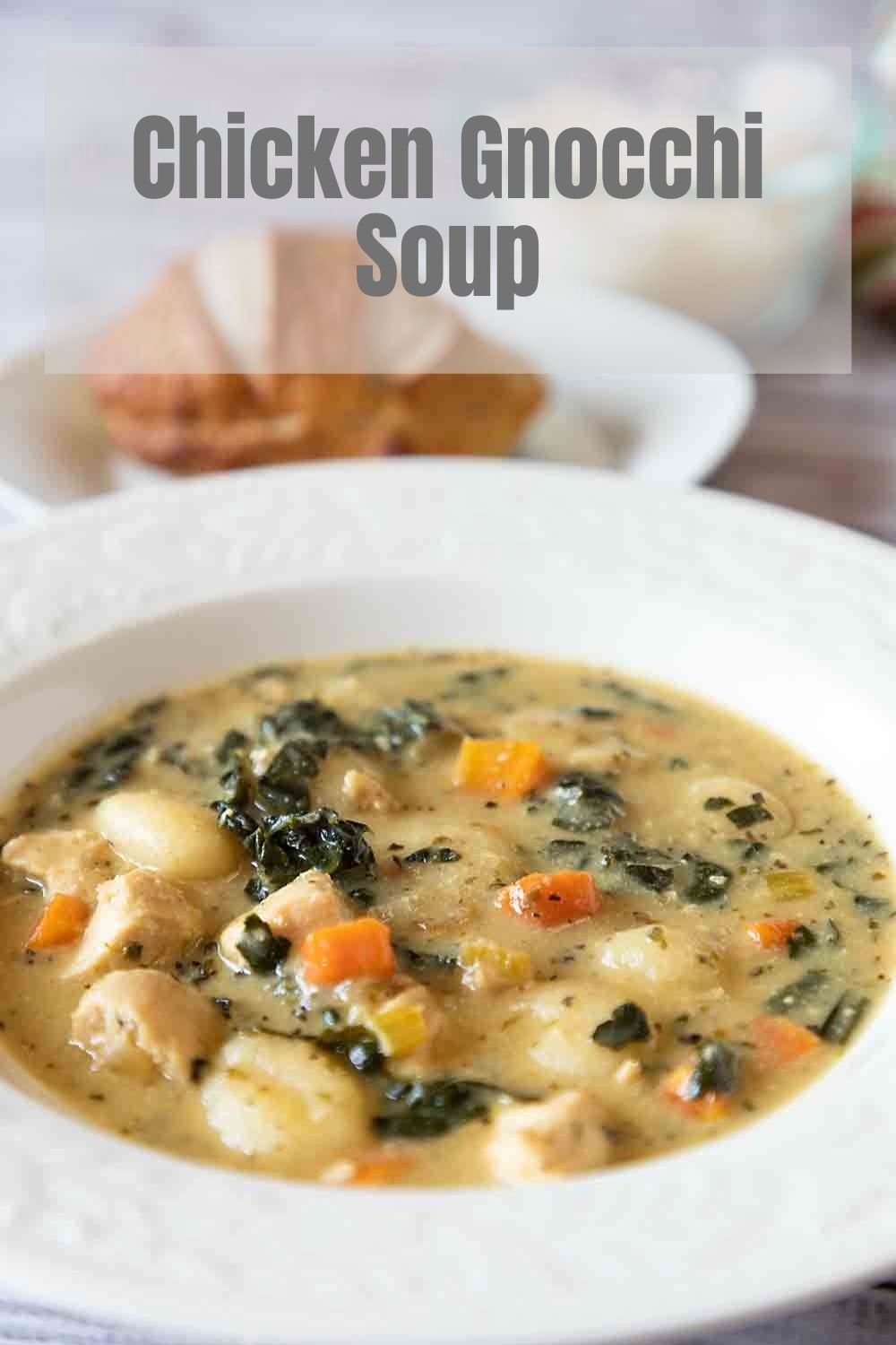 Like an extra rich creamy Chicken Soup, Chicken Gnocchi Kale Soup takes comfort to the next level. Make it in one pot!