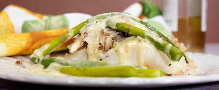 Halibut Seafood Oscar
