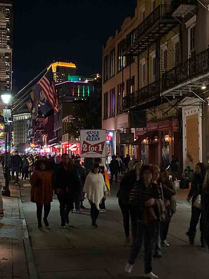 New Orleans, LA at night