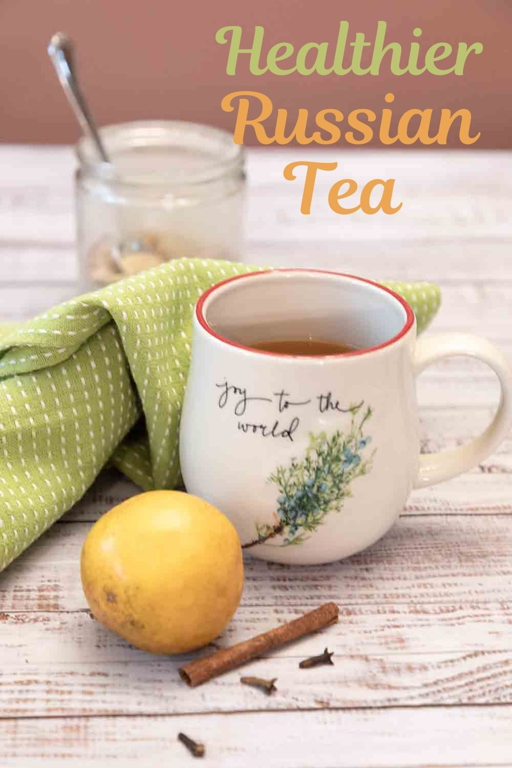 Hot, sweet & flavored with orange, lemon, cinnamon, cloves, Russian Tea makes a warming & restorative winter beverage. AKA Friendship Tea.