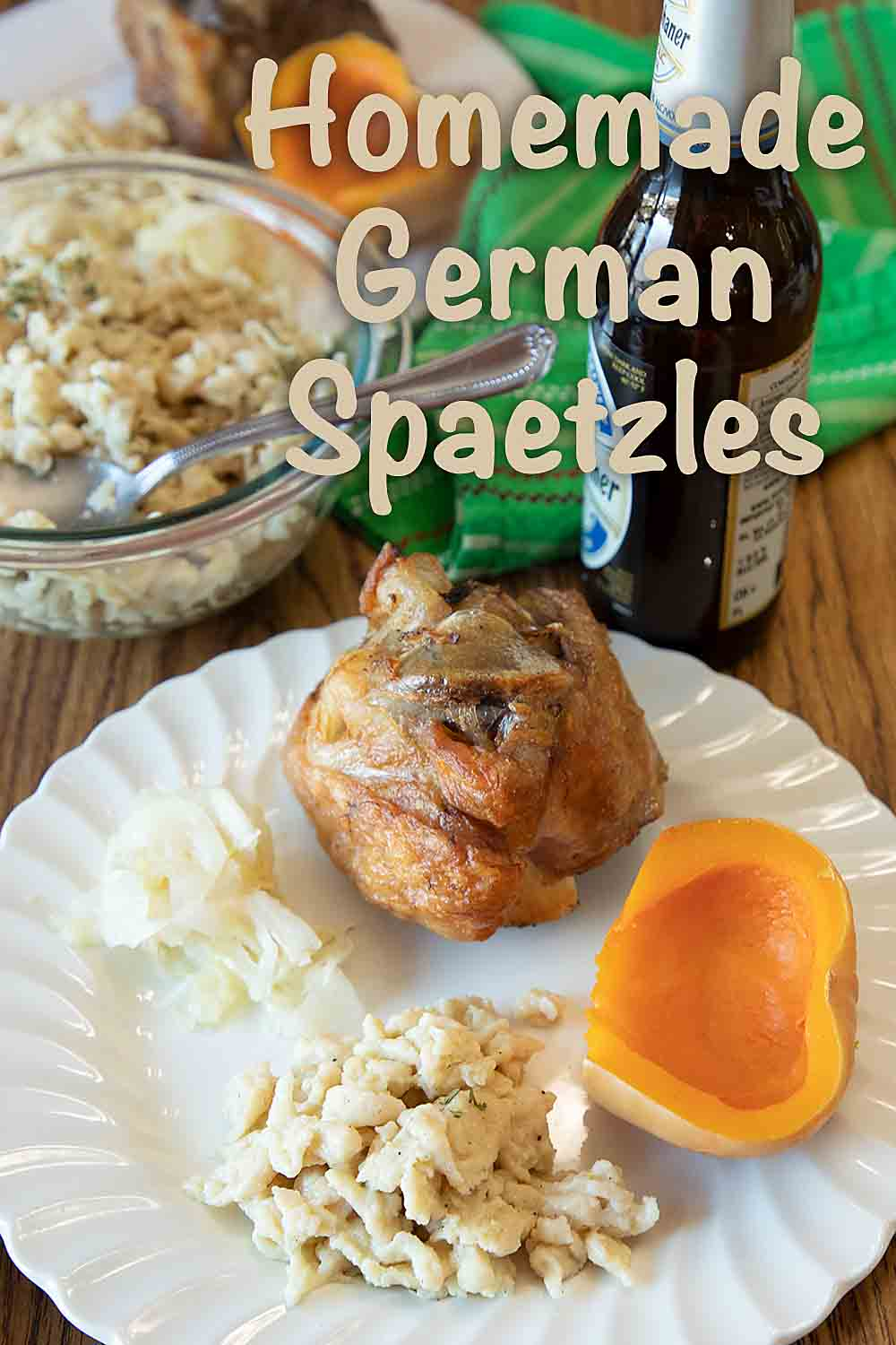 Like a cross between an egg noodle and a dumpling, homemade German Spaetzles are a tasty, easy and versatile side dish.