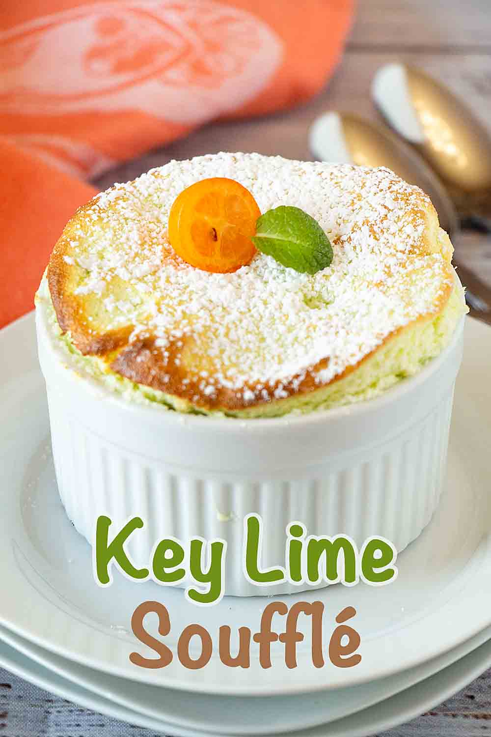 Light, airy, tart and bright, this Key Lime Soufflé is a fun and special dessert that is perfect for spring. Or any time of the year.