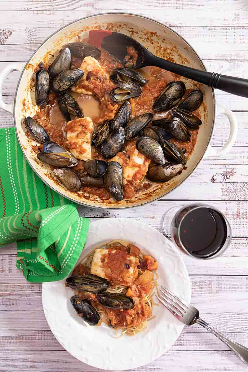 A heartier version of a classic, Seafood Pasta Puttanesca is flavored with capers, olives, & a hint of spice. Plus amazing seafood.