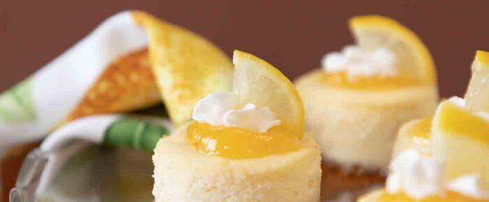 Lemon White Chocolate Mini Cheesecakes #SpringSweetsWeek