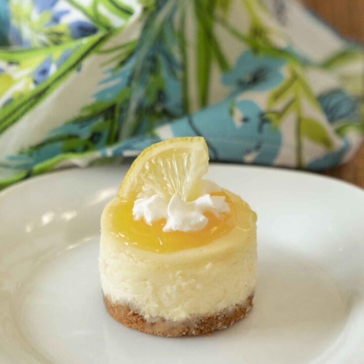 Lemon White Chocolate Mini Cheesecakes