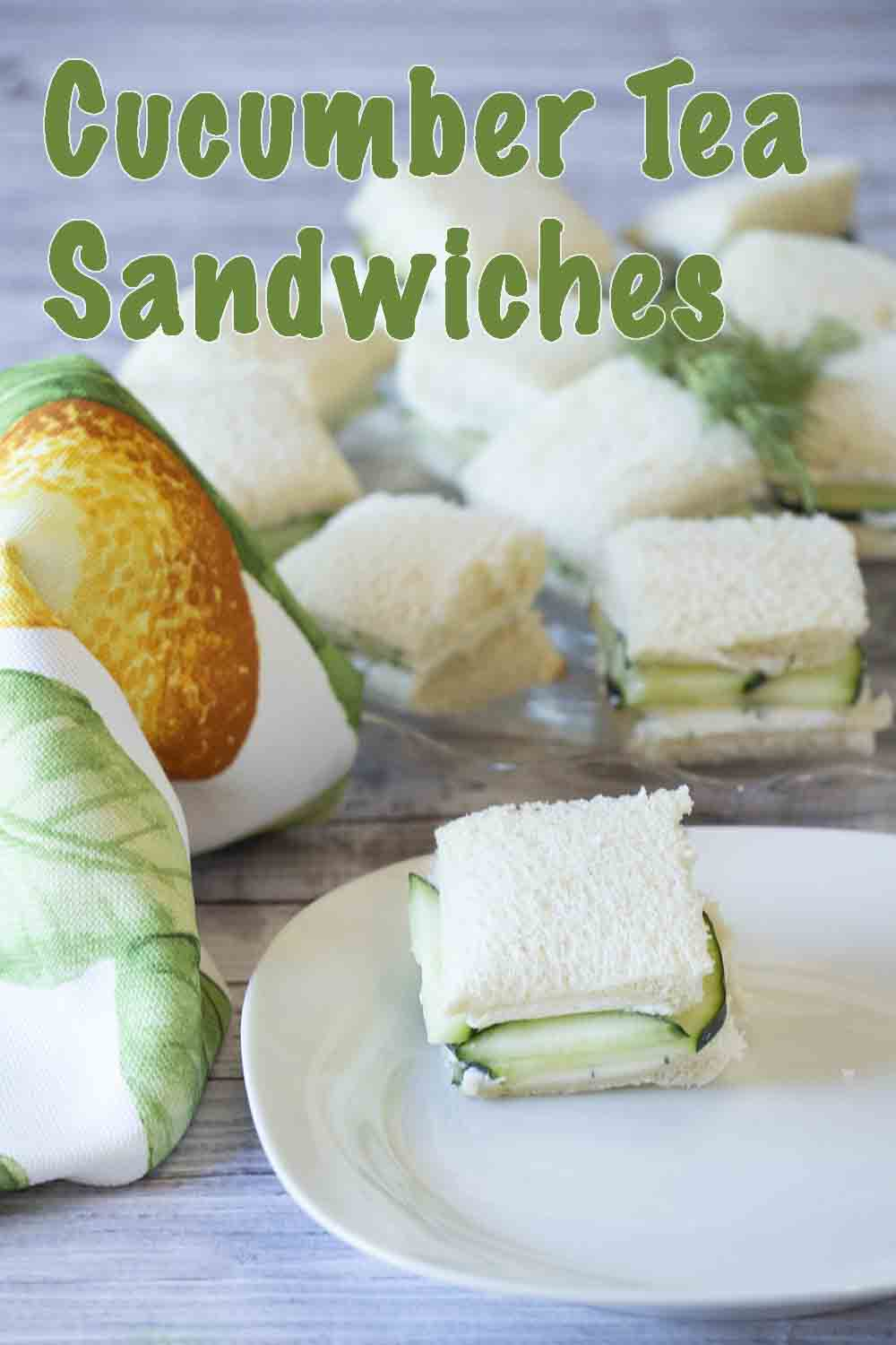 Elegant and tasty, cucumber tea sandwiches are flavored with cream cheese and dill. Perfect for afternoon tea, luncheon, book club or garden party.