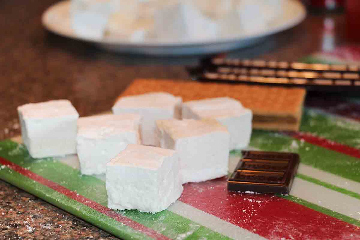 It's campfire season. What's more fun than Campfire Style Organic Homemade Marshmallows! Step by step directions for this tasty summer candy!
