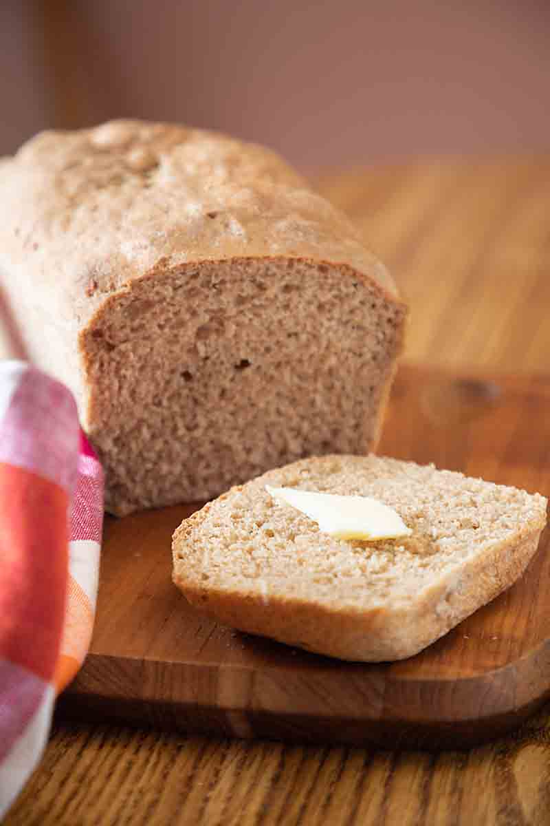 Honey Wheat Bread with Optional Sourdough Discard produces a slightly sweet, wheat-y loaf. Great as a side, for toast or sandwich bread.