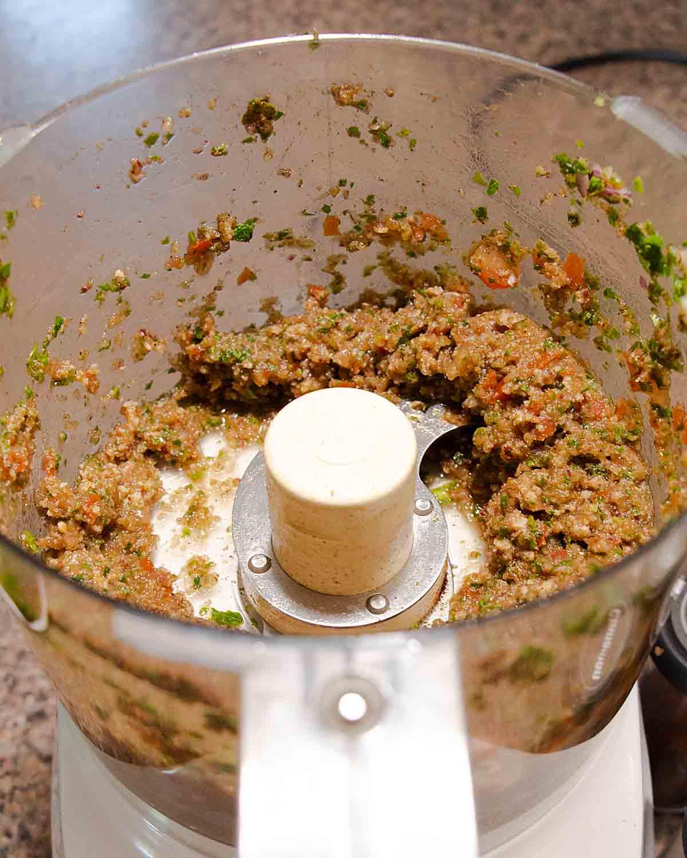 Make seasoning in food processor