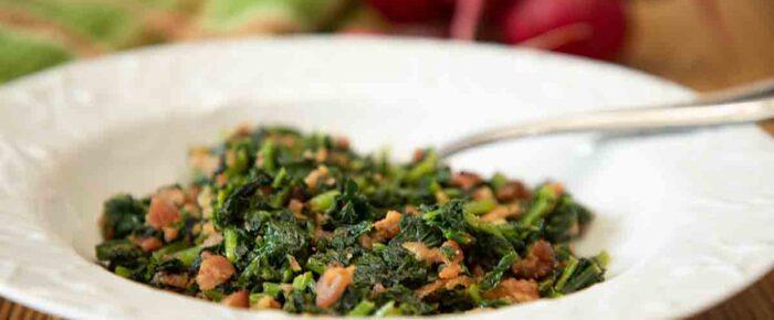 5-Ingredient Smoky Radish Greens