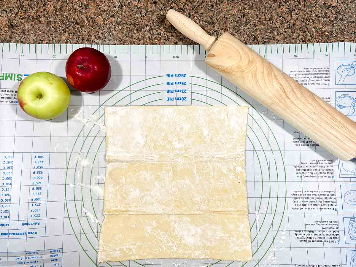 roll out puff pastry