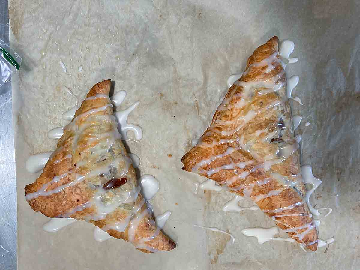 drizzle glaze over turnovers