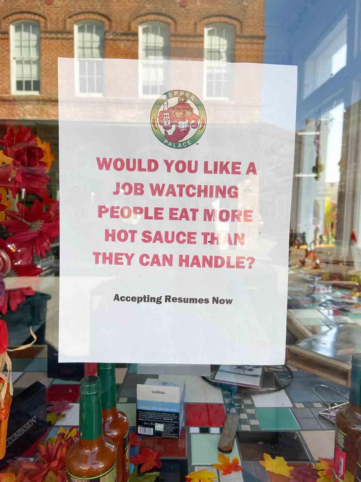 NOLA sign re: hot sauce