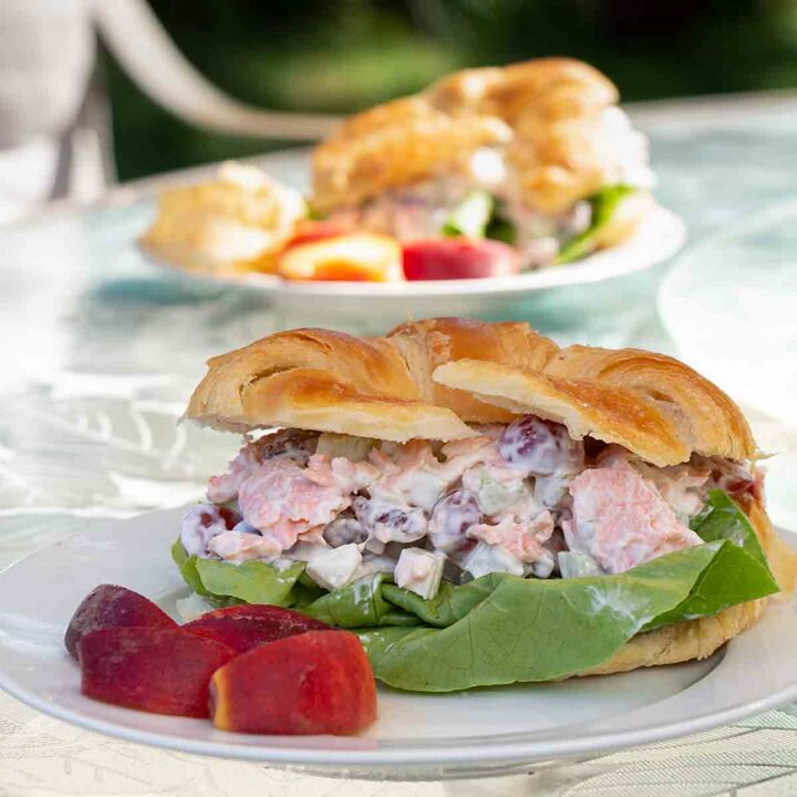Salmon Salad with Grapes and Pecans